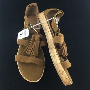 Mossimo NEW faux suede tassel sandals